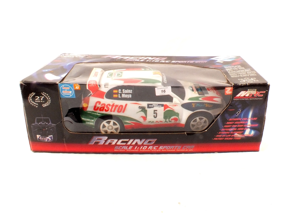 Lot 16 - A boxed MRC radio controlled Toyota Corolla WRC