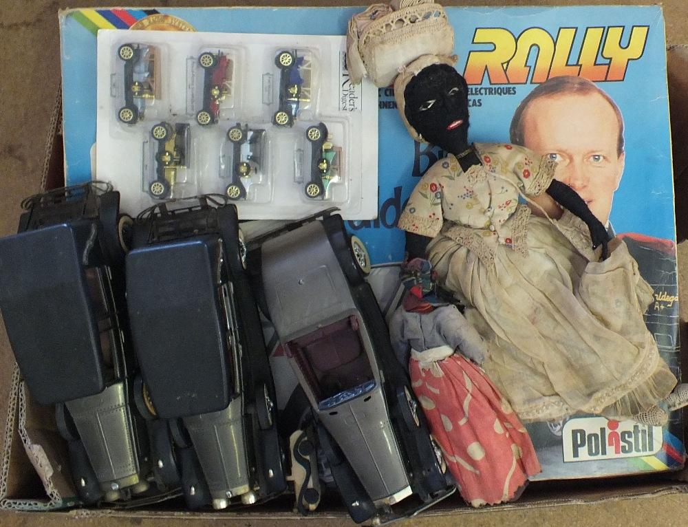 Lot 48 - An Italian Polstil racing car set plus other toys