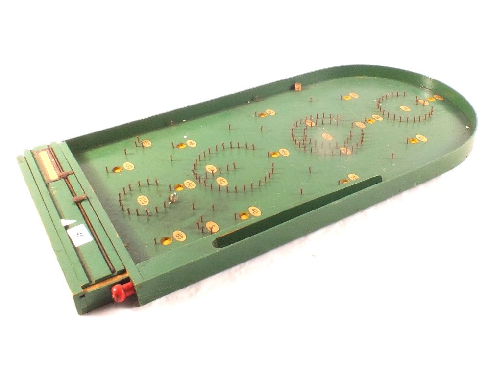 Lot 45 - Jacques garden quoits plus other games including carpet bowls and a bagatelle board