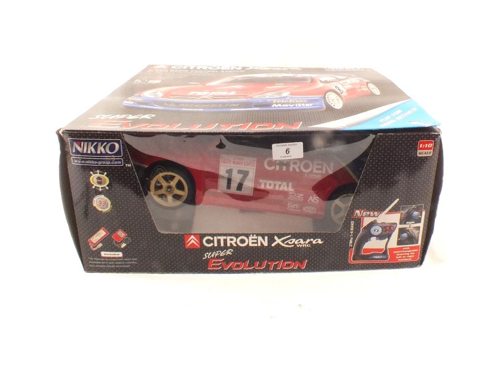 Lot 6 - A boxed Nikko radio controlled Citroen Xsara