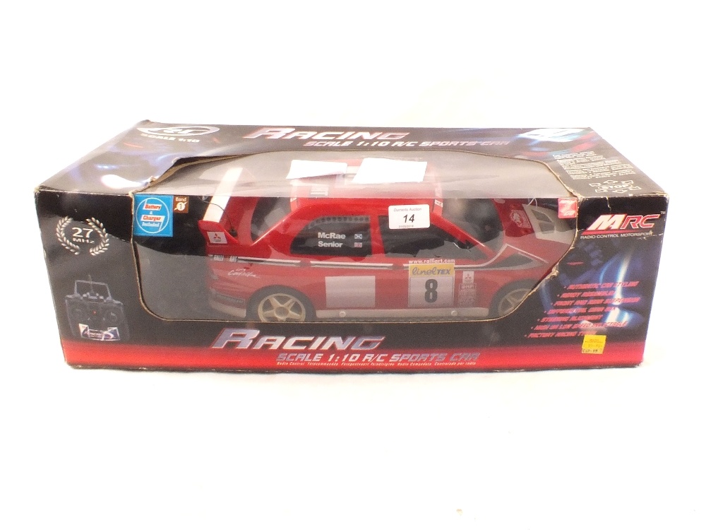 Lot 14 - A boxed MRC radio controlled Mitsubishi Evolution VII WRC (no charger)