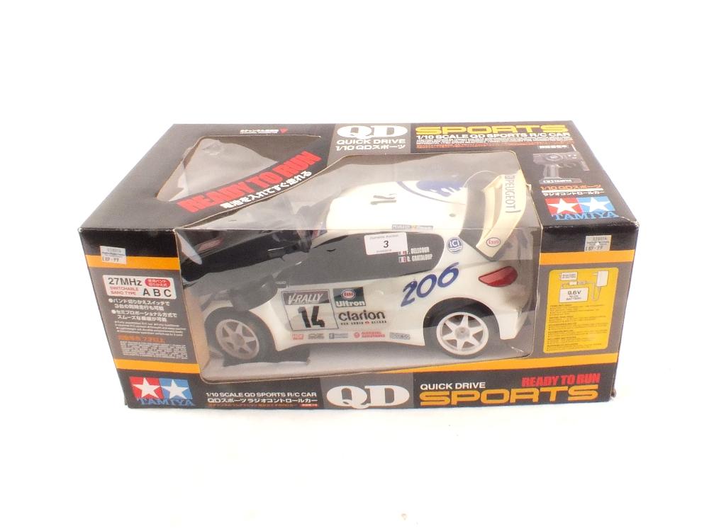 Lot 3 - A boxed Tamiya radio controlled Peugeot 206 WRC