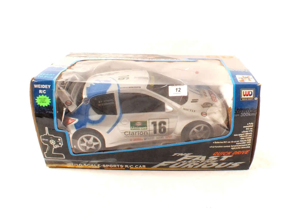 Lot 12 - A boxed Weidi radio controlled sports car