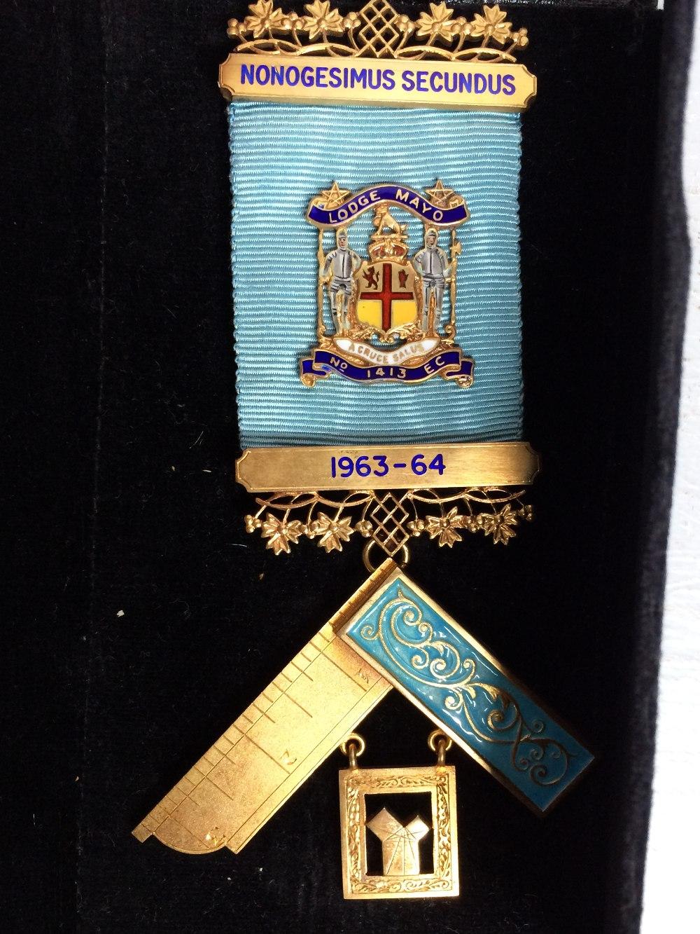 2 Masonic badges both silver gilt - Image 2 of 2