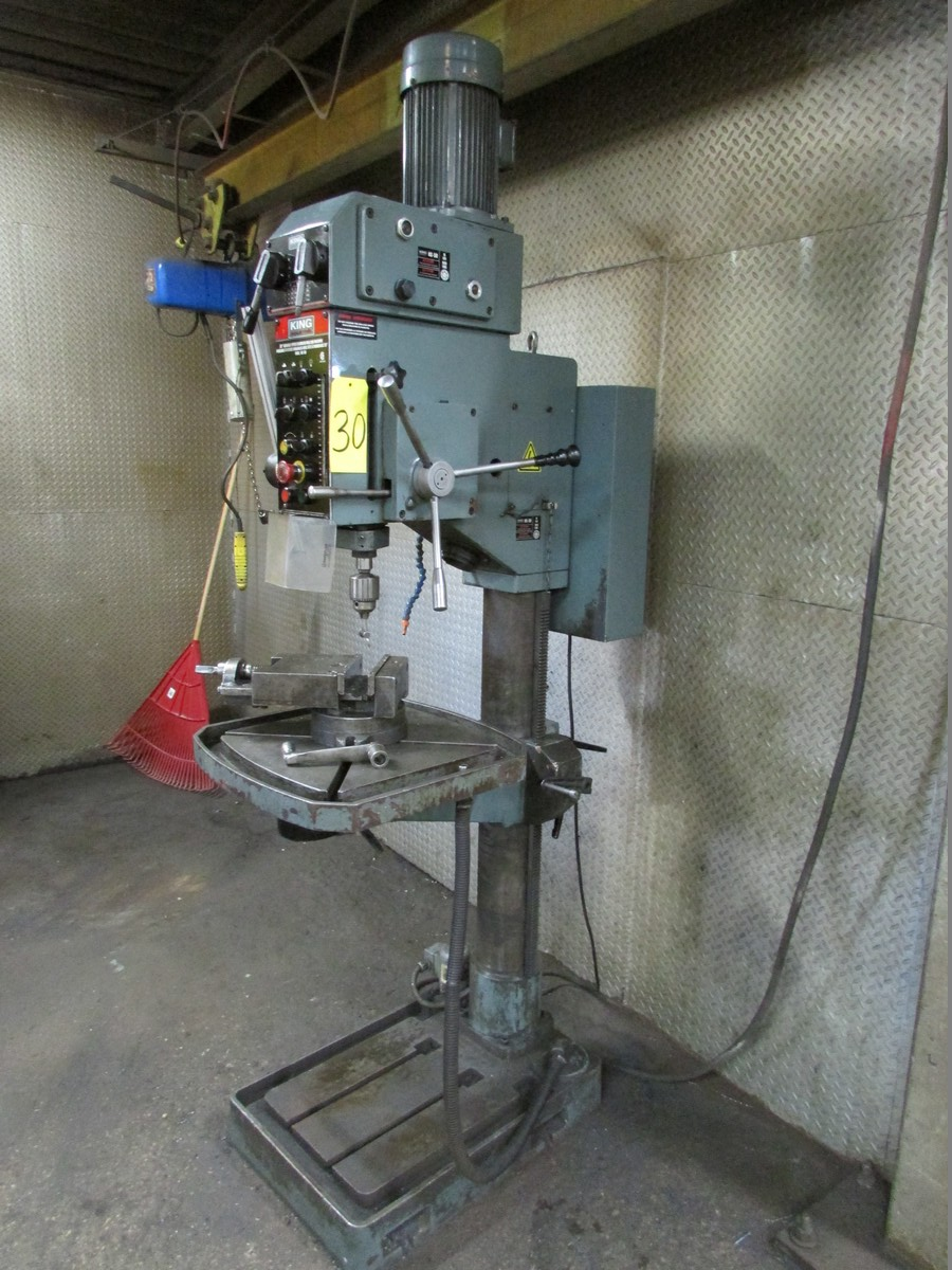 King KC-50 gear head 28'' drill press w/ 22'' x 22'' table, 7'' spindle stroke, 7'' vise, 575V/60/3 - Image 2 of 4