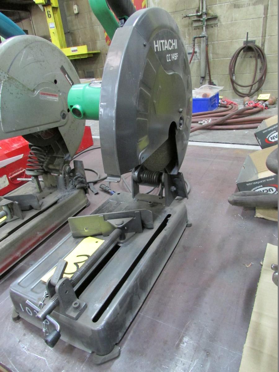 Hitachi CC14SF, 14'' abrasive chop saw, 110V - Image 2 of 2