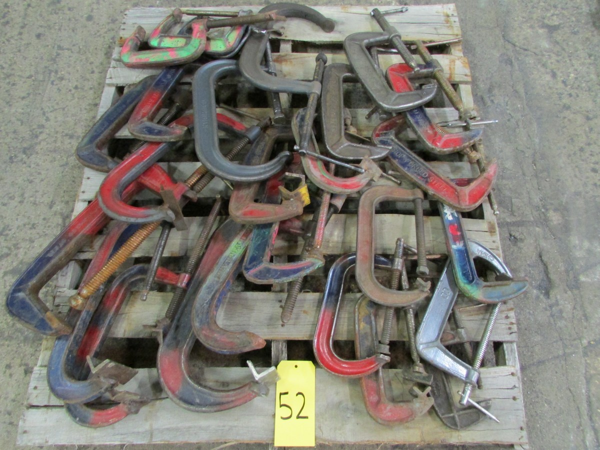 One skid of misc. C-clamps