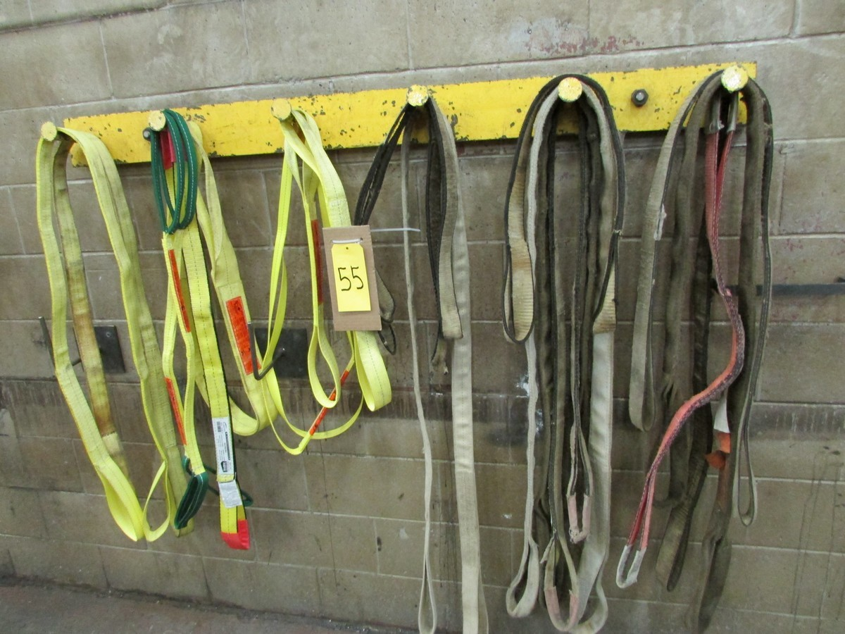Lot 55 - Qty. of used and unused lifting straps of various lengths (20 pcs)