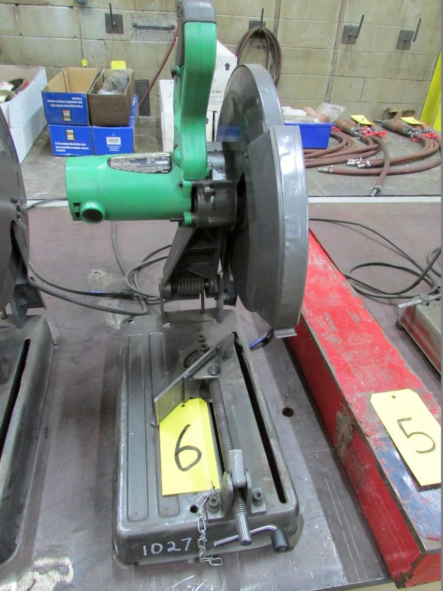 Lot 6 - Hitachi CC14SF, 14'' abrasive chop saw, 110V