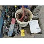 One skid of power tools needing repair including 1 large torque wrench, 1 mag drill, numerous
