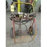 Oxyacetylene cart w/ guages and hoses