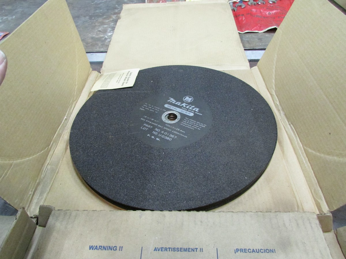 Lot 11 - Qty. of unused and used 14'' and 16'' abrasive chop saw blades
