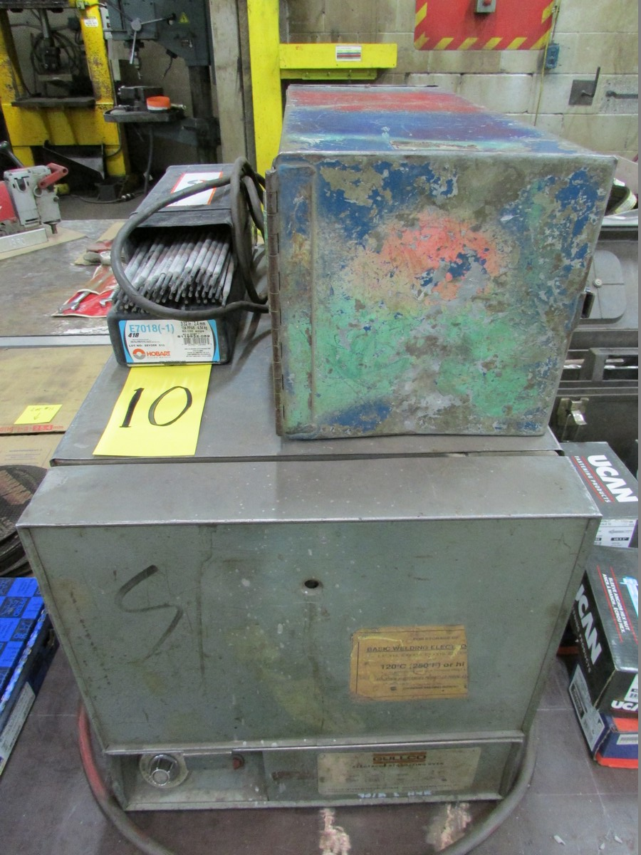 Lot 10 - Gullco Rod Oven w/ Henkel portable rod dryer and small qty. of welding rods