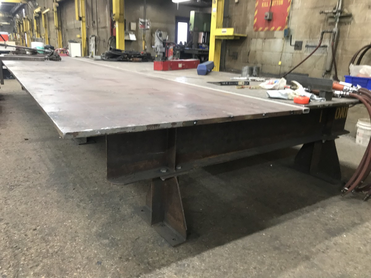20' x 8' x 1'' x 29'' H layout / welding table (this table is not welded together and will break - Image 2 of 2