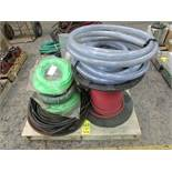 Two skids of used and unused air line w/ qty of fluid and water line
