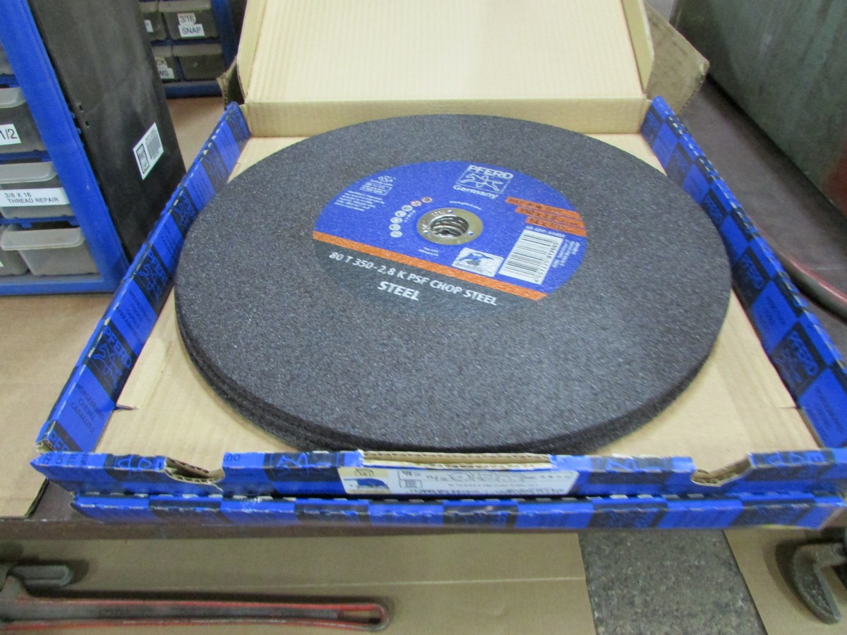 Qty. of unused and used 14'' and 16'' abrasive chop saw blades - Image 2 of 3