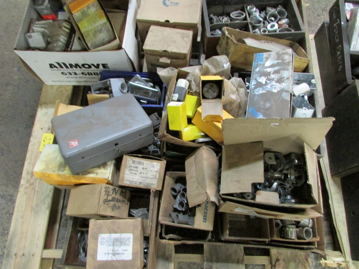 Two skids of various sized fuses, elec. components, fittings, connectors, etc. - Image 5 of 6