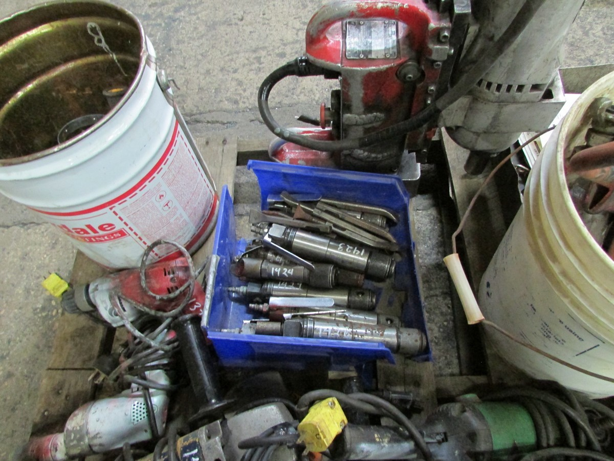 One skid of power tools needing repair including 1 large torque wrench, 1 mag drill, numerous - Image 3 of 5