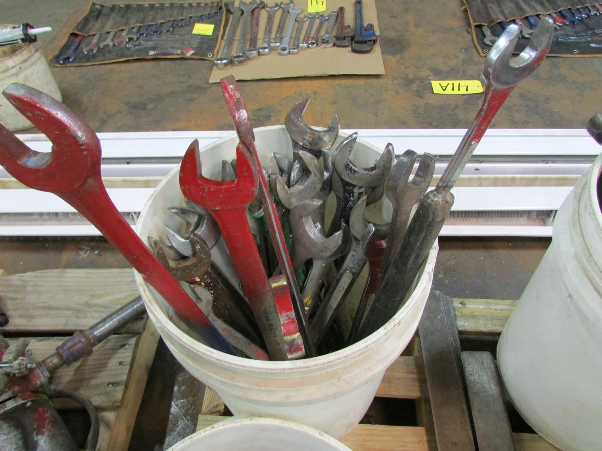 Qty. of box end wrenches, ball-peen hammers, carpenters squares and misc. - Image 2 of 5
