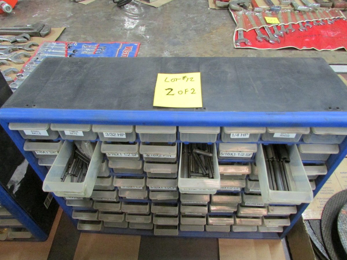 Two small plastic nut and bolt bins c/w contents - Image 3 of 3