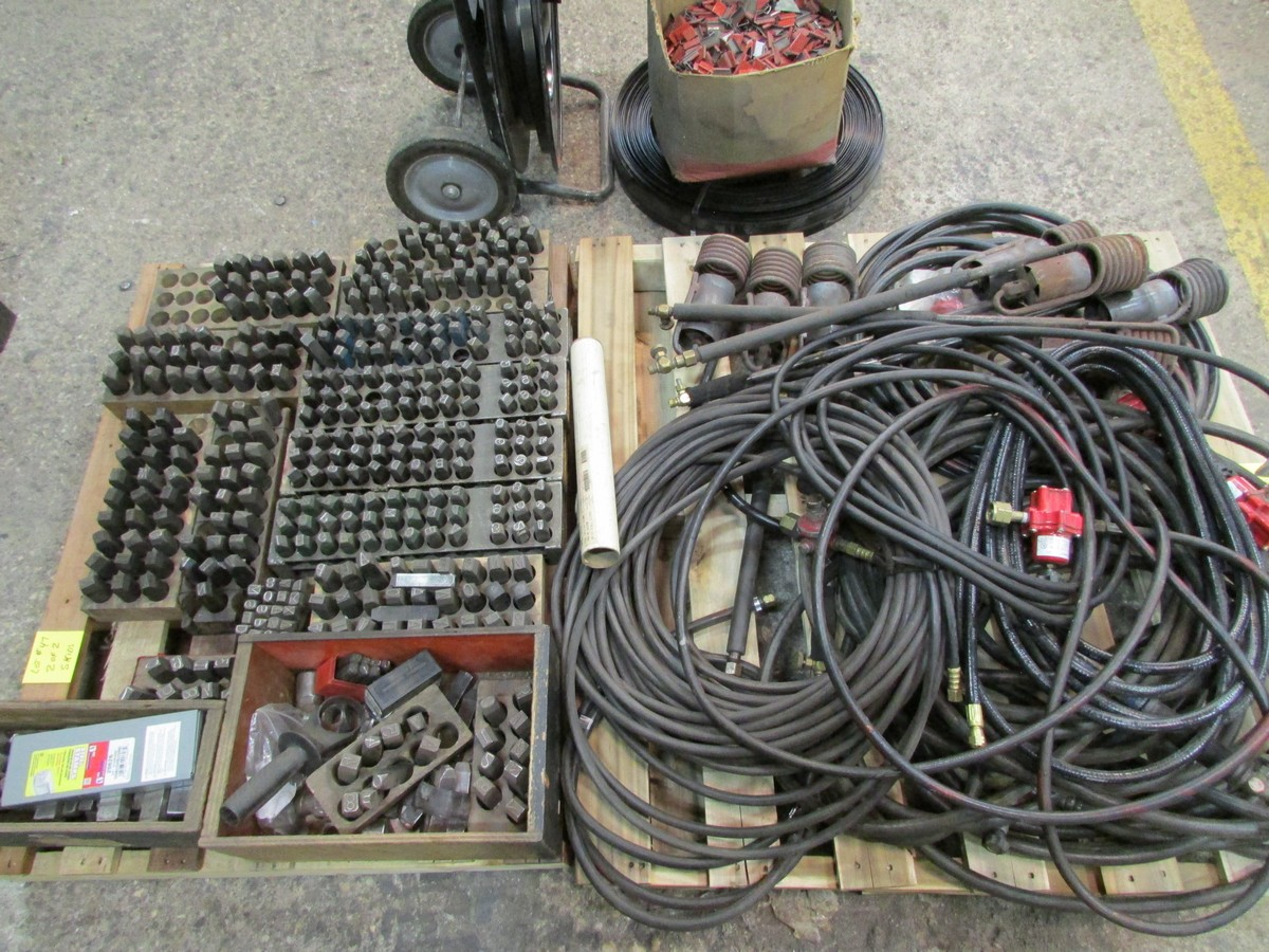 Two skids of propane torches, hose and valves plus number and letter stamps - Image 3 of 3