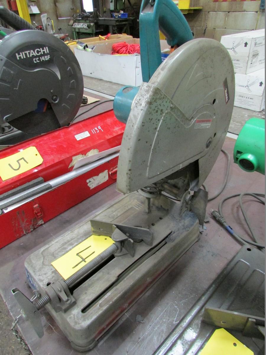 Makita 2414DB, 14' abrasive chop saw, 110V - Image 2 of 2