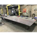 20' x 8' x 1'' x 29'' H layout / welding table (this table is not welded together and will break