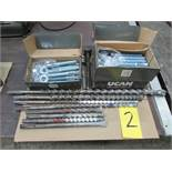 2 1/2 boxes of Ucan T2 Wedge Anchors (3/4'' x 5 1/2'') w/ 7 pcs of SDS Max Conc. drill bits, plus