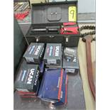 Qty. of Ucan wedge anchors w/ tool box and misc. SDS Plus concrete bits