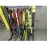Wire spool stand w/ qty of safety harnesses