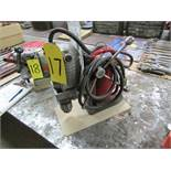 Milwaukee magnetic drill w/ 1/2'' chuck, 110V