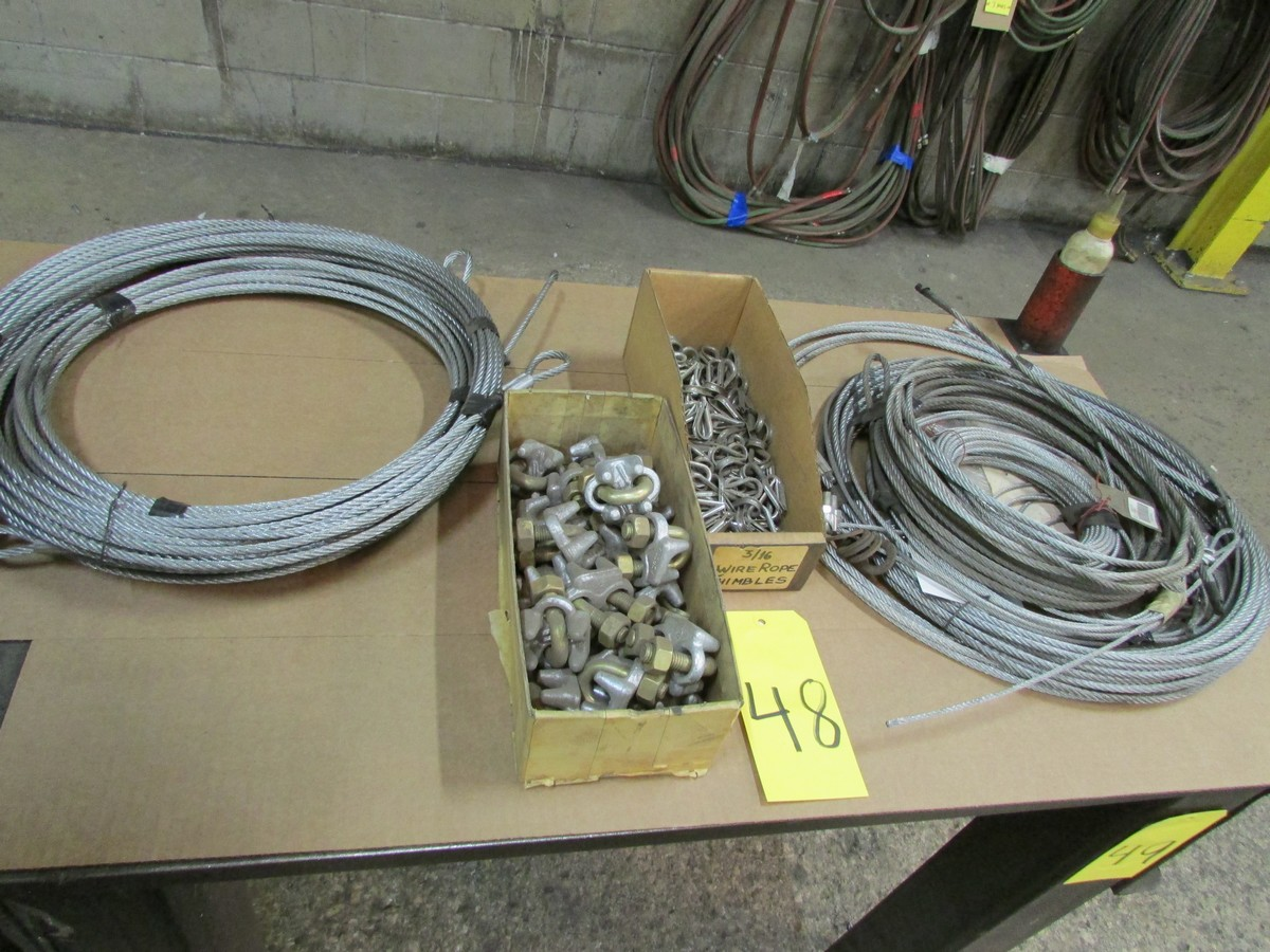 Lot 48 - Steel cable w/ hardware