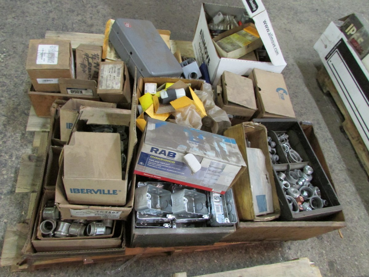 Two skids of various sized fuses, elec. components, fittings, connectors, etc. - Image 3 of 6