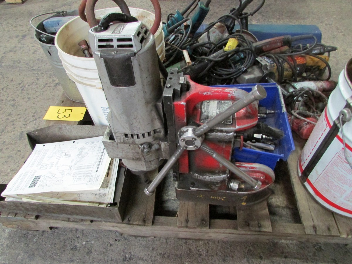 One skid of power tools needing repair including 1 large torque wrench, 1 mag drill, numerous - Image 4 of 5