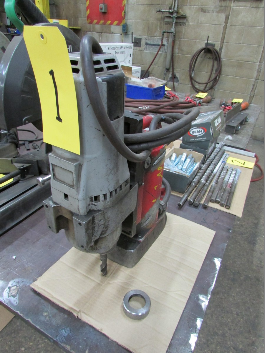 Milwaukee Magnetic Drill w/ 2MT Adapter, 110V