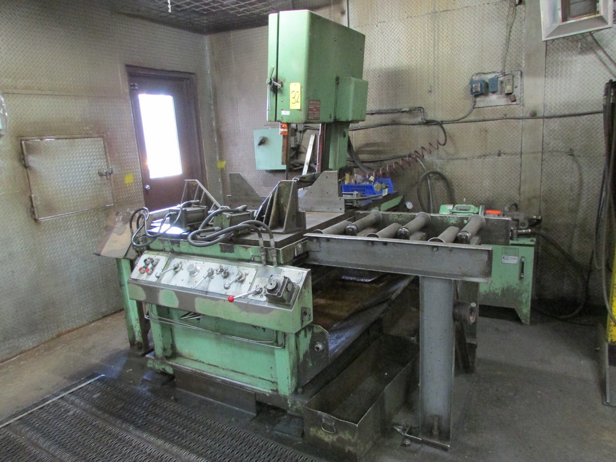Doall Model TF20 vertical band saw s/n 273-76212 w/ hyd. clamping, 20'' depth, 22'' under housing, - Image 2 of 5