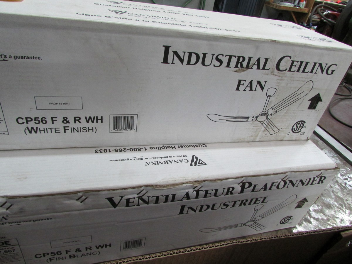 Lot 22A - Three unused warehouse air circulation fans