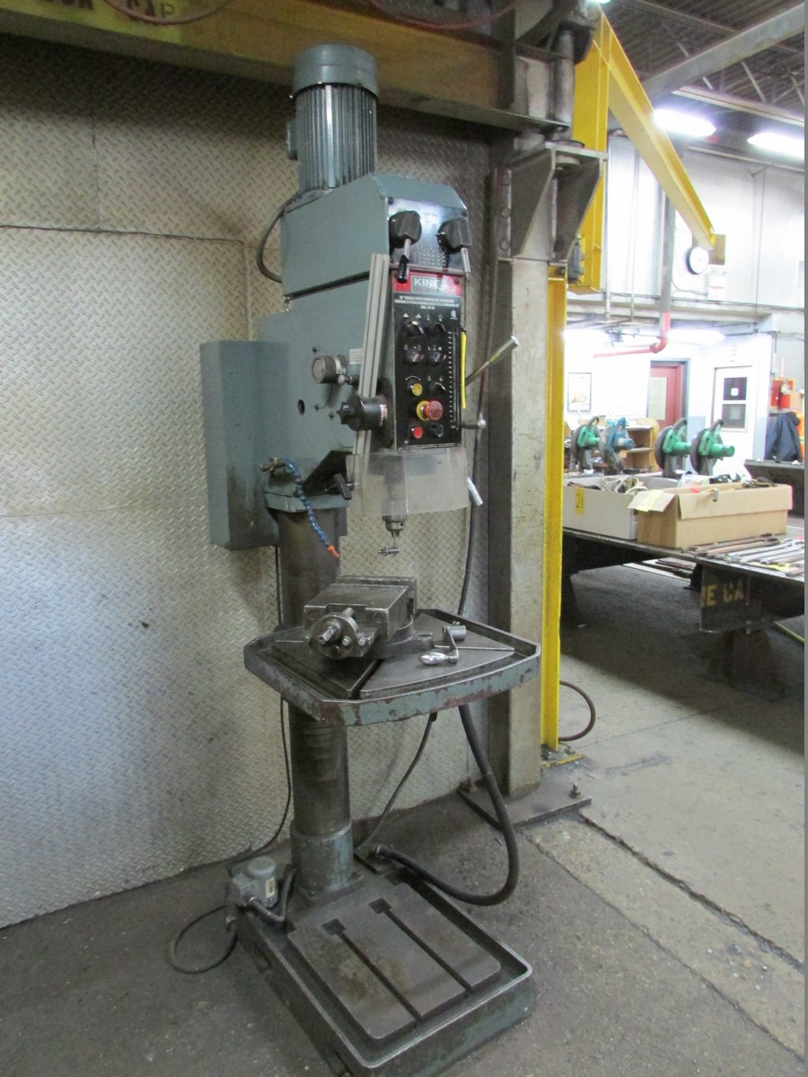 King KC-50 gear head 28'' drill press w/ 22'' x 22'' table, 7'' spindle stroke, 7'' vise, 575V/60/3 - Image 3 of 4