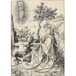 "Martin Schongauer. ""St. John on Patmos"" / ""Johannes auf Patmos"". Um 1480"