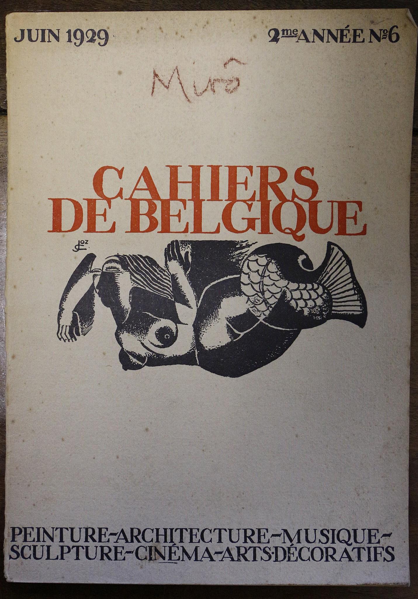 """Resultado de imagen de Joan Miró. """"Cahiers de Belgique"""