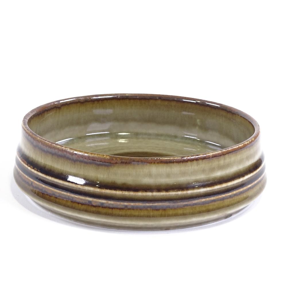 OLE ALBERIUS FOR RORSTRAND - a Mid-Century Swedish Studio Pottery Bamboo dish, squat cylindrical - Image 2 of 5