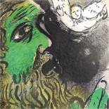 MARC CHAGALL - original colour lithograph, Job Praying, published by Verve 1960, 35cm x 26cm,