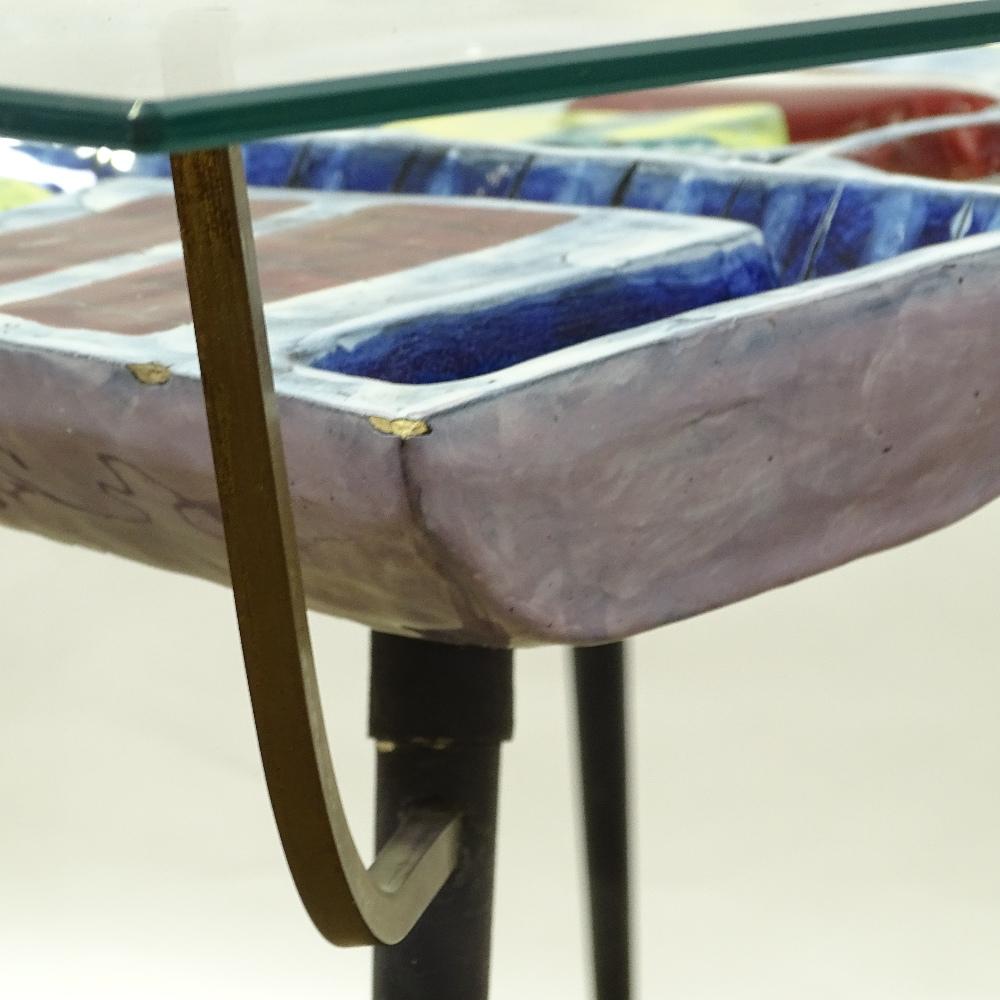 OTELLO ROSA FOR SAN POLO DESIGN - a Mid-Century Italian coffee table, circa 1950s, polychrome - Image 5 of 5