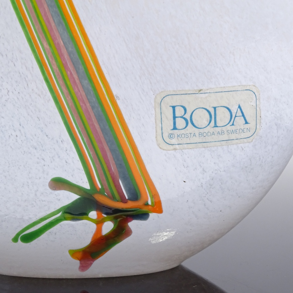 BERTIL VALLIEN FOR KOSTA BODA - a late 20th Century Swedish art glass Rainbow vase, spheroid form - Image 3 of 5