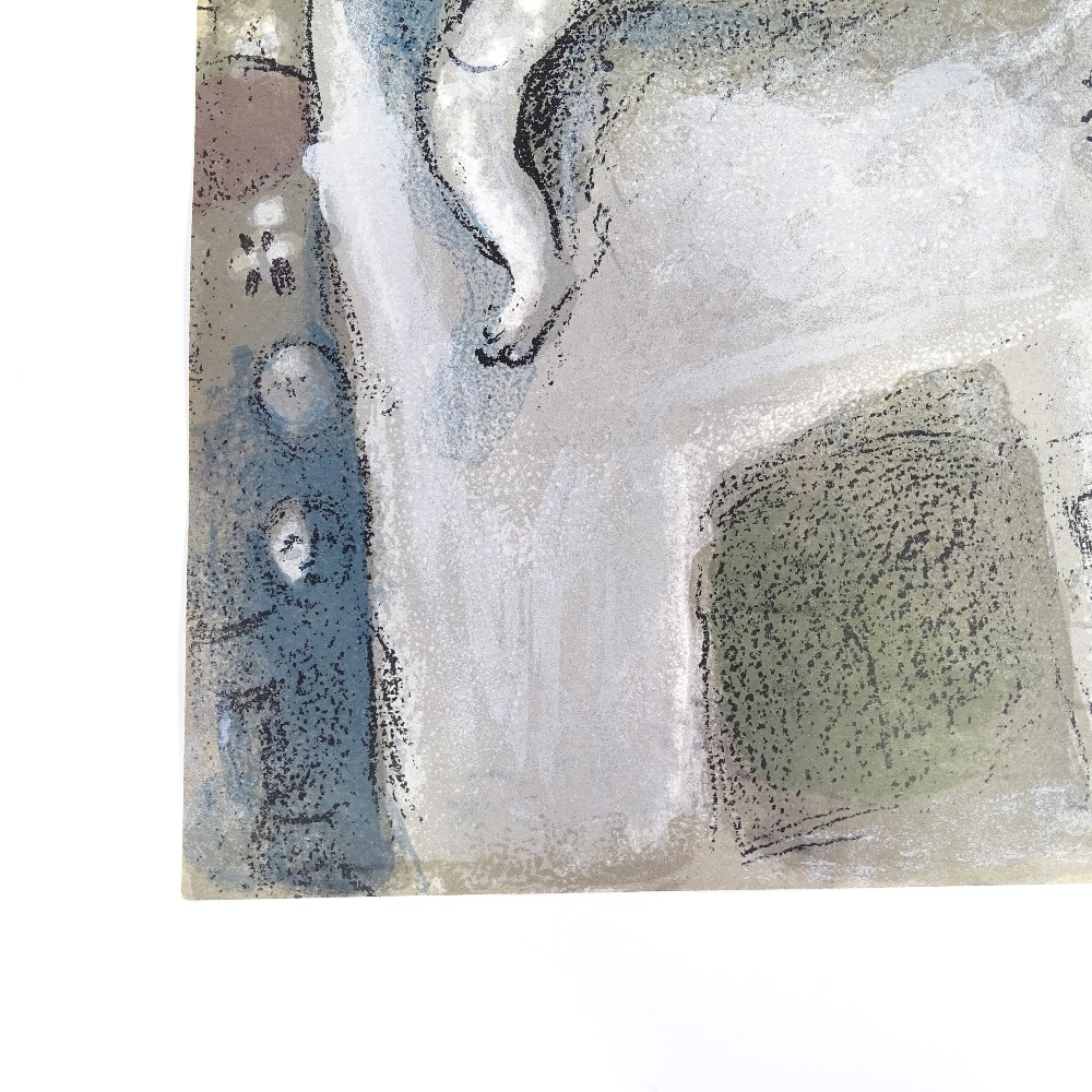 MARC CHAGALL - original colour lithograph, David Saved by Michal from The Bible, published by - Image 5 of 5