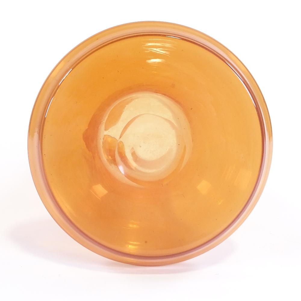 TOBIA SCARPA FOR VENINI - a Mid-Century Venetian Murano orange glass cocktail flask, circa 1954, - Image 5 of 5