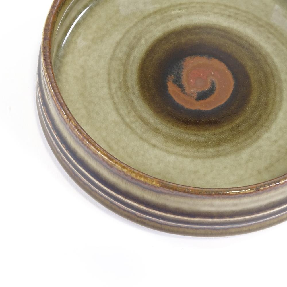OLE ALBERIUS FOR RORSTRAND - a Mid-Century Swedish Studio Pottery Bamboo dish, squat cylindrical