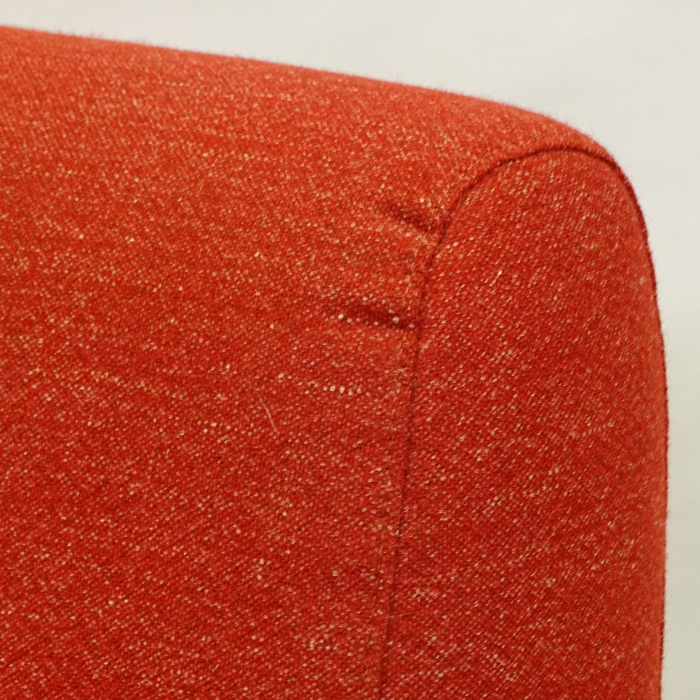 MARCO ZANUSO FOR ARFLEX - a late 20th Century Italian Lady lounge chair, red upholstery with steel - Image 2 of 5