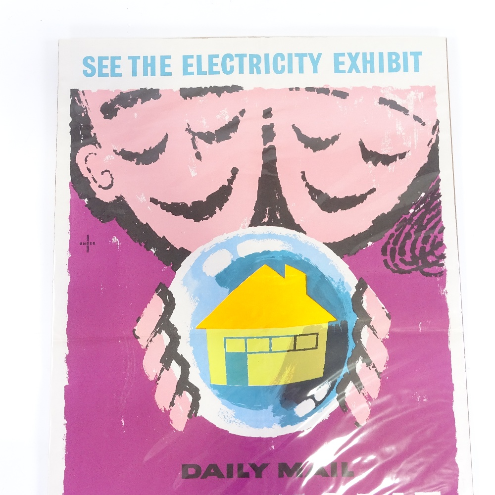 HANS UNGER (1915-1975) - a Mid-Century poster, Daily Mail Ideal Home Exhibition, circa 1958... - Image 3 of 5