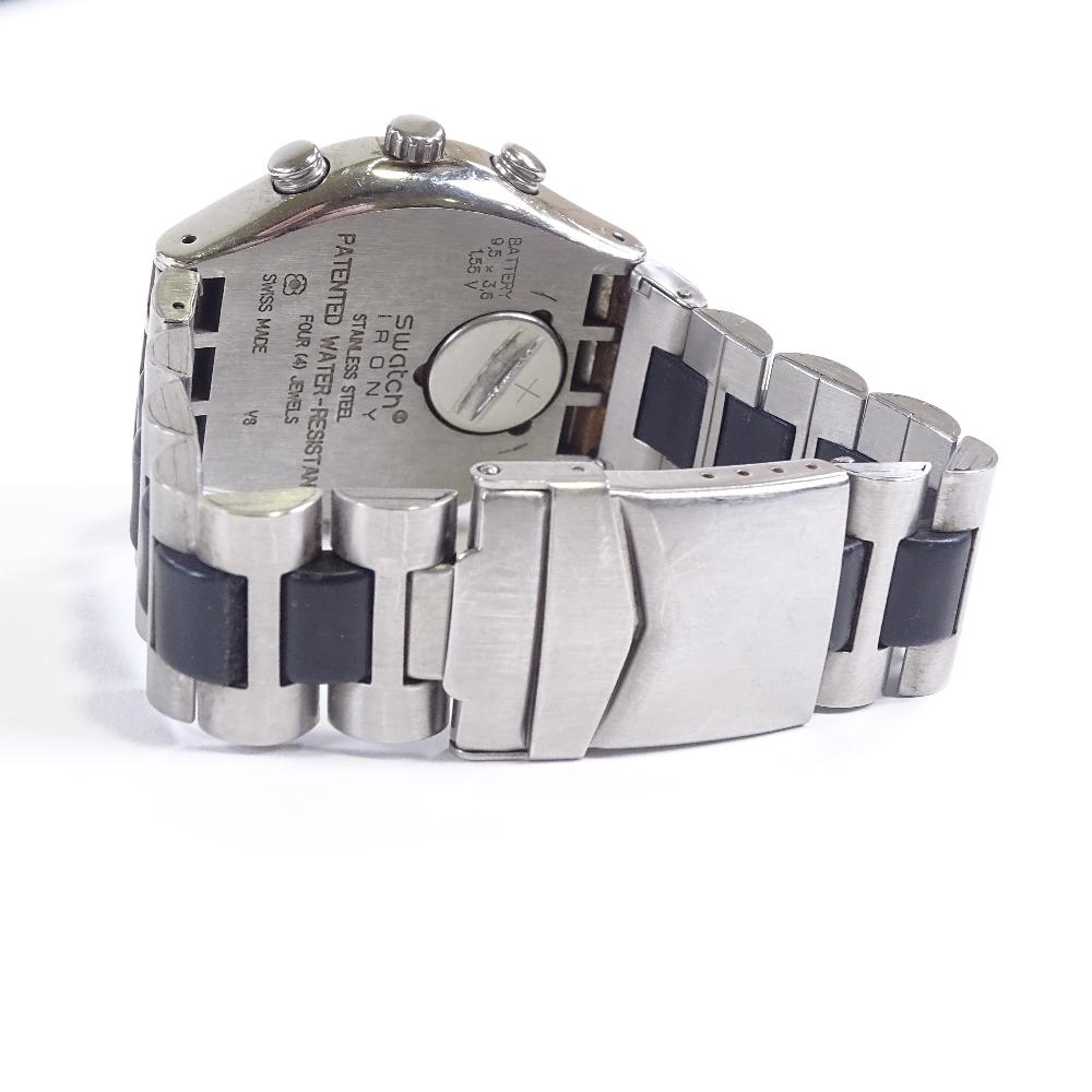 SWATCH - a stainless steel Irony Windfall quartz chronograph wristwatch, ref. YCS410GX, circa - Image 3 of 5